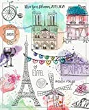 Three Year Planner 2019-2021: Monthly Schedule Organizer - Agenda Planner For The Next Three Years, 36 Months Calendar January 2019 - December 2021 | Paris Travel Watercolor Design