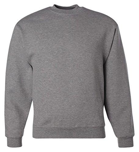 Jerzees Adult Preshrunk Fleece Crewneck Sweatshirt, Oxford, X-Large - Jerzees Fleece Oxfords