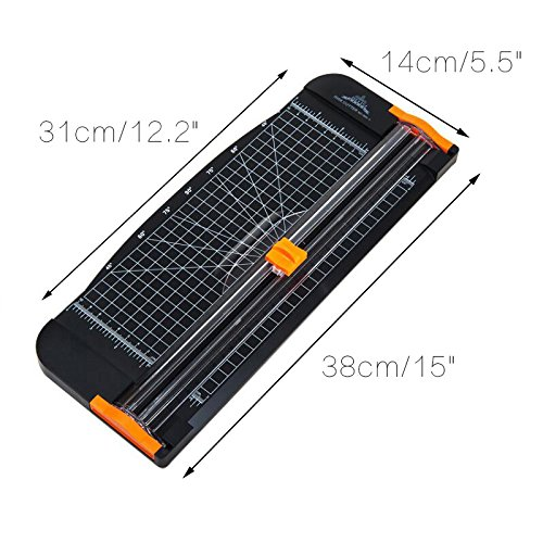A4 Paper Trimmer,Multi-Angle Paper Cutter,Professional Paper Guillotine with Folding Ruler for Office School or Home (31x14cm Black)
