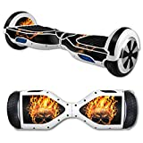 MightySkins Protective Vinyl Skin Decal for Hover Board Self Balancing Scooter mini 2 wheel x1 razor wrap cover sticker Hot Head