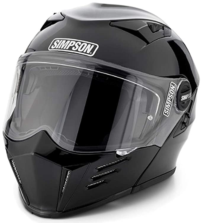 Simpson MOD Bandit Helmet (Flat Matte Black, Large) Modular function