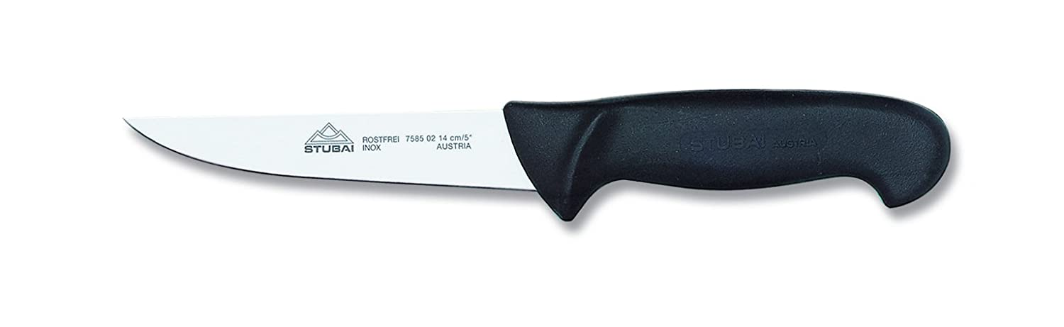 Stubai 120 mm Butcher's Knife with Polypropylene Handle, Stainless Steel, Silver/Black, 28 x 13 x 13 cm 758501