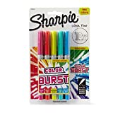 Sharpie Color Burst Permanent Markers, Ultra-Fine Point, Assorted, 5-Pack (1948353)