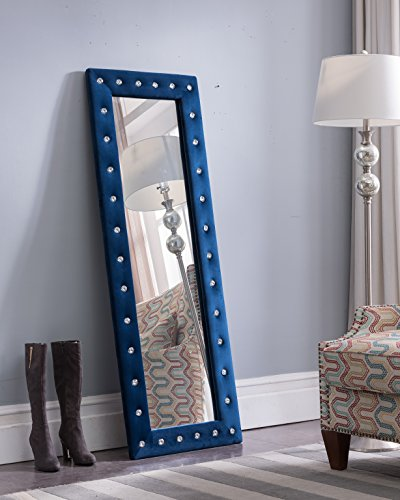 Kings Brand Furniture - Modern Upholstered Tufted Standing Floor Mirror, -