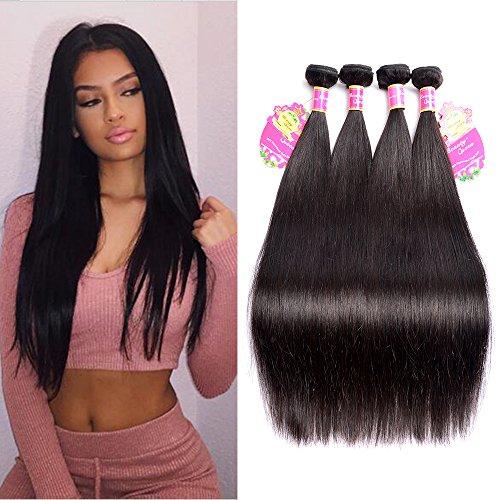 7A-Brazilian-Mink-Straight-Hair-4-BundlesLot-100-Unprocessed-Virgin-Human-Hair-Extensions-Natural-Color-95-100gpc