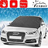 Flyday Waterproof Car Windshield Snow Cover & Sun Shade Protector Kit for Sedan & SUVs Prepare For All Weather