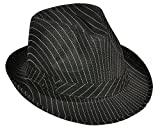 Best Rhode Island Novelty Womens Halloween Costumes - Roaring 20s Gangster Costume Black Pin Stripe Fedora Review