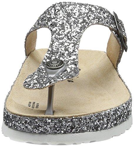 Pepe Jeans London Oban Blim, Sandalias para Mujer Plateado (Silver)
