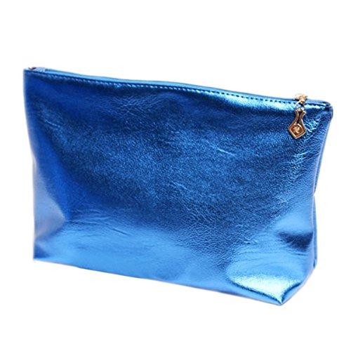 Girl Handbag Travel Blue Women Candy Lady Cosmetic Tote clear Bags Pvc Beach 2pcs Color Stripe Bag Pink Transparent Semi Shoulder qHTwExXH