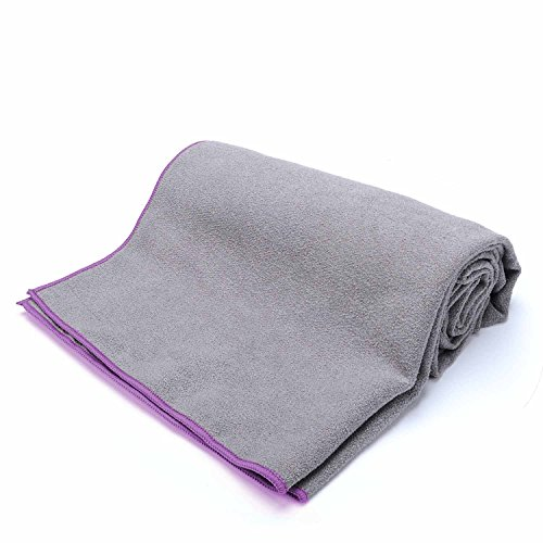 Loel Brikram Hot Yoga Towel- Microfiber SUEDE Non Slip Hot Yoga Mat Towel Super Absorbant Quick-dry Sports Towels