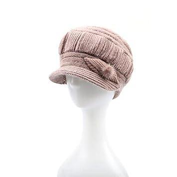 Hinchable Mujer Otoño E Invierno Gorras Boinas Engrosamiento ...