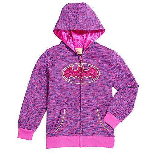 ce Lined Sequined Hoodie, Batgirl - w Removable Cape ,4T,Pink ()