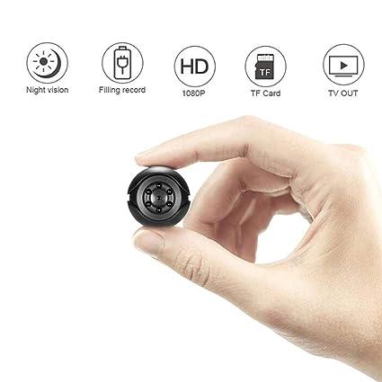 YENJOS Cámara Espía Mini Cámara Oculta Cámara de visión Nocturna con Sensor de Seguridad 1080P Cámara