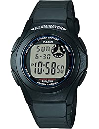 Casio F-200W-1ACF Reloj Unisex, color Negro