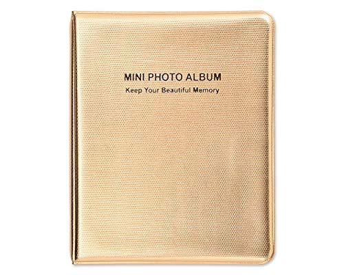 (Ace Select Luxury 64 Pockets Photo Album for Fujifilm Instax Mini 9/8/70/25/90/7S/50S Instant Camera Films - Gold Photo Book Picture Album)