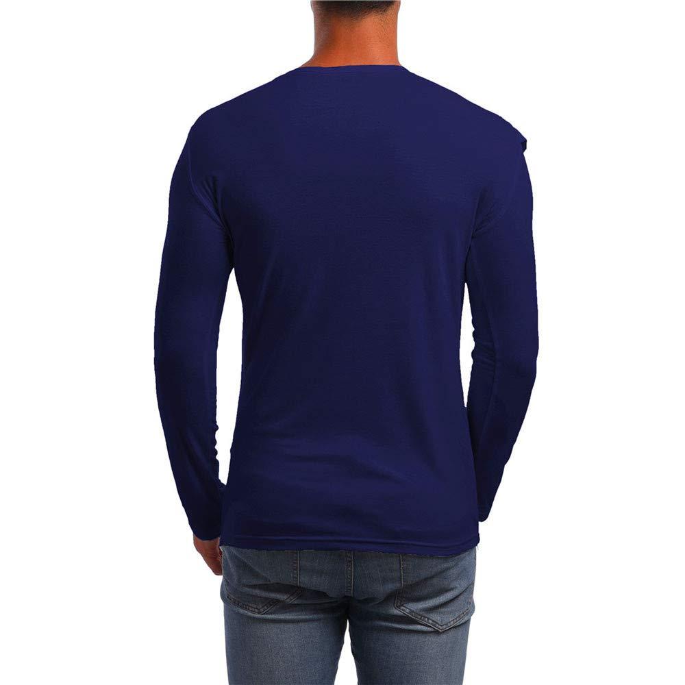 Personalidad de los Hombres del otoño Delgados Camisa de Patchwork sólido de Manga Larga Top Blusa de Internet: Amazon.es: Ropa y accesorios