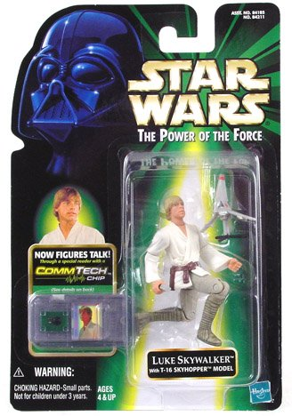 Star Wars: Power of the Force CommTech Luke Skywalker Action Figure by Hasbro