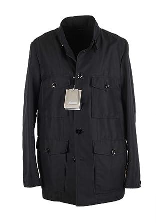 8dee2e65468879 CL - Tom Ford Black Military Safari Coat Size 58   48R U.S. Outerwear