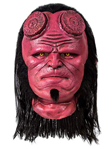 Hellboy Mask,Hellboy 3 (2019) Cosplay Mask,Hellboy Cosplay Mask Helmet With Wigs Latex Halloween Cosplay Costume Props