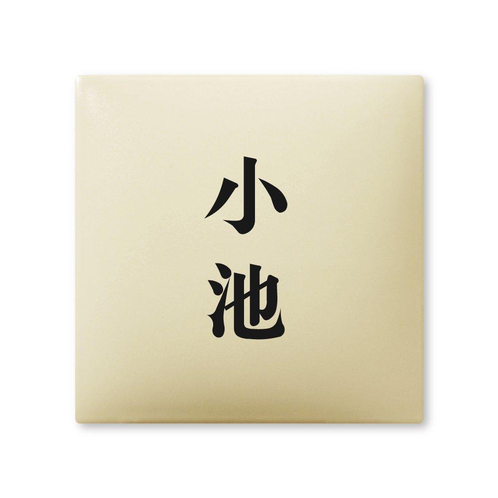 丸三タカギ 彫り込み済表札 【 小池 】 完成品 アークタイル AR-1-2-2-小池   B00RFAXKUK