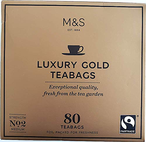 Marks and Spencer - Luxury Gold 80 Teabags 250g (1 Pack) - USA Stock ()