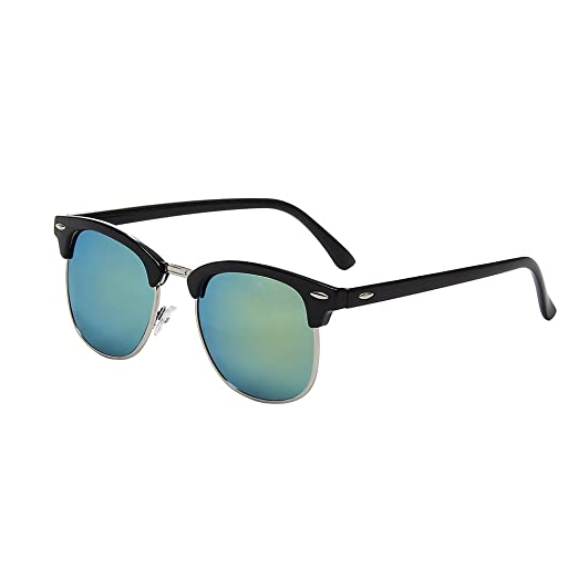 987ccaa8aca7 Amazon.com: Shiratori Classic Metal Half Frame Color Film Sunglasses Gold:  Clothing