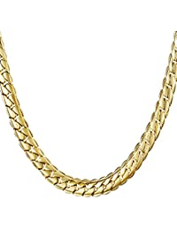 Cuccu 18K Gold Plated Necklace Hip Hop Men Jewelry 6 MM...