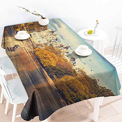 Willsd Resistant Table Cover,London Picturesque ST James Park in UK Baroque Architecture Heritage Medieval Landscape,Dinner Picnic Table Cloth Home Decoration,W52x70L Multicolor]()