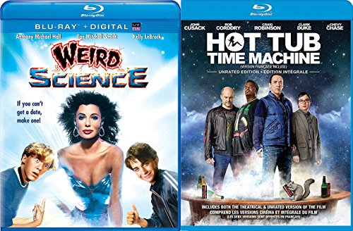 Hot Tub Time Machine Unrated + Weird Science John Hughes... Blu Ray Fun Comedy movie 2 Pack Set