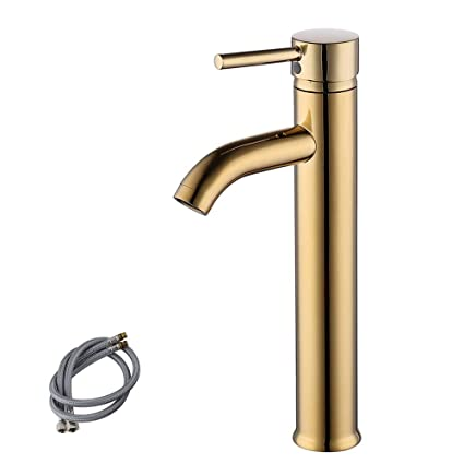 kes cupc nsf certified brass faucet bathroom sink brass single hole rh amazon com moen brass single handle bathroom faucet antique brass single hole bathroom faucet