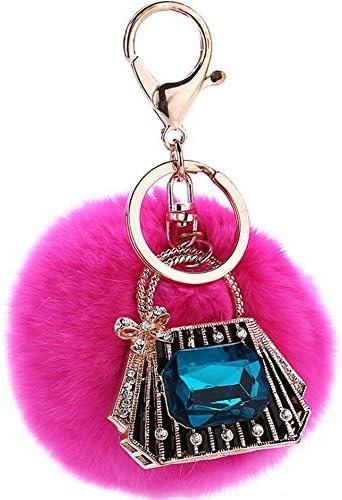 レディースキーホルダー・チャーム 女性の女の子の財布トートバックパック携帯電話の装飾ミニクリスタルトートデザインヘアボールライン
