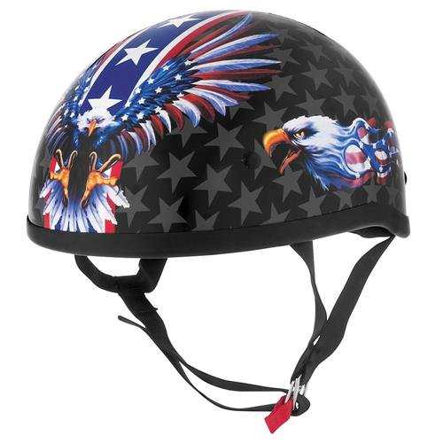 Flames Skid Lid - Skid Lid USA Flame Eagle Helmet - X-Large/Eagle