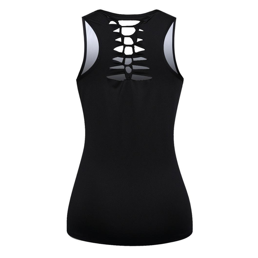 Yvelands Mujeres Súper Personalidad Personalizada O-Cuello Chaleco Vendaje Recorte Impreso Blusa Tank Tops Ropa Camiseta Blusa Top, Barato Liquidación!: