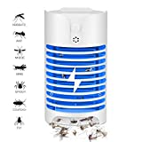 Desuccus Electric Bug Zapper with UV Light Trap/Electronic Mosquito Killer/Indoor Plug-in Pests Killer/Nontoxic,Odorless & Noiseless Fly Eliminator/Powerful & Efficient Light Bulbs Bug Zapper