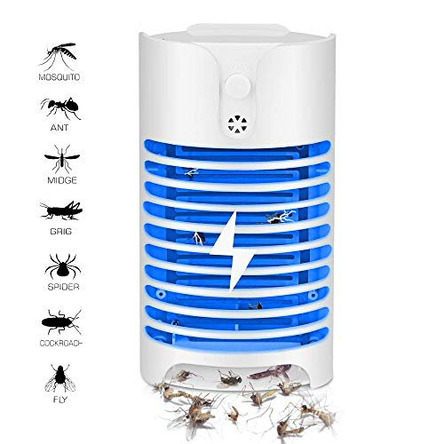 - OTBBA Electric Bug Zapper with UV Light Trap/Electronic Mosquito Killer/Indoor Plug-in Pests Killer/Nontoxic,Odorless & Noiseless Fly Eliminator/Powerful & Efficient Light Bulbs Bug Zapper