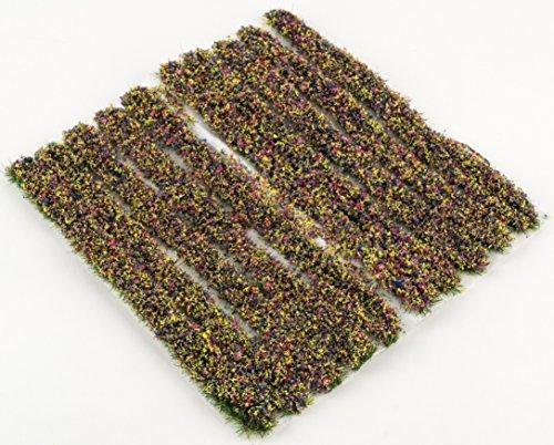 4mm Mixed Flowers Grass Strips x 10 by WWS Model Railway Diorama Scenery Terrain