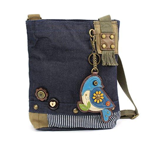 Bluebird Blue Cross Blue Body Women Patch Messenger Denim Denim Bag Canvas Handbag Chala XBwvqx