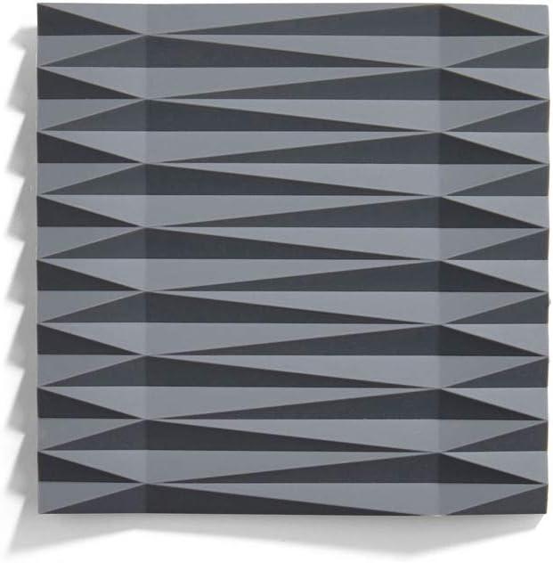 Zone Denmark 331291 Plaza Set de table en silicone Noir Gris 1 pi/èce 160 mm 16 cm