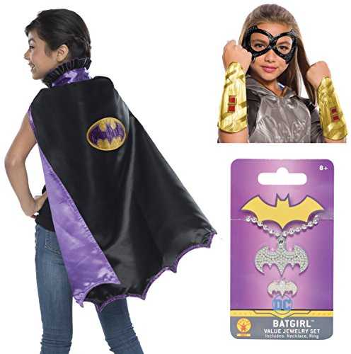 Rubie's Child's DC Comics Cape Costume Accessory Kit, Batgirl ()