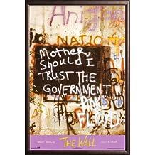 Pink Floyd - Berlin Wall 24x36 Dry Mount Poster Rust Wood Framed