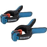 ROCKLER 662680 kleine lijmklemmen met elastiek, verpakking van 2 stuks, blauw