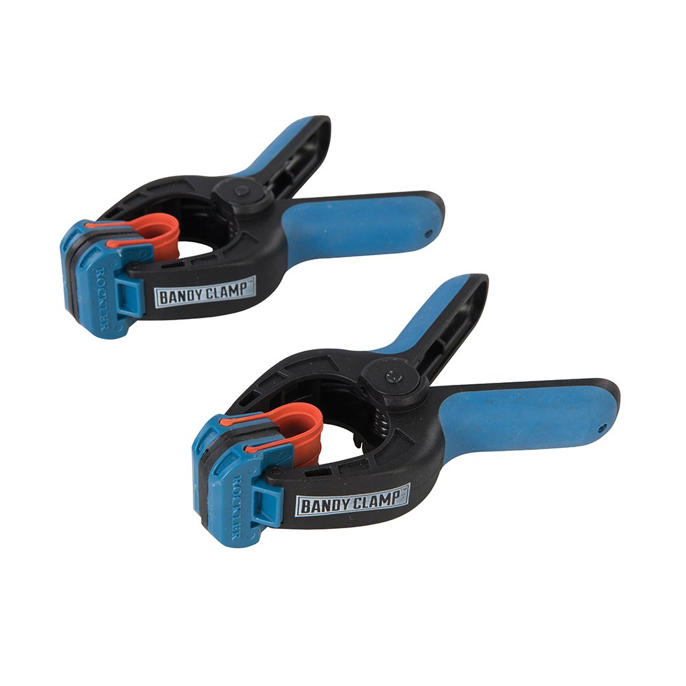 ROCKLER 662680 Bandy Clamp, Blue, Small, Set of 2 Pieces