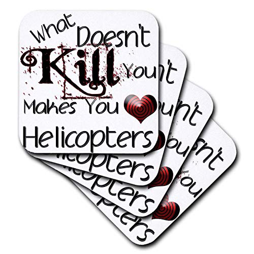 3dRose Blonde Designs What Doesnt Kill You Makes You Love - What Doesnt Kill You Helicopters - set of 4 Ceramic Tile Coasters (cst_186025_3)