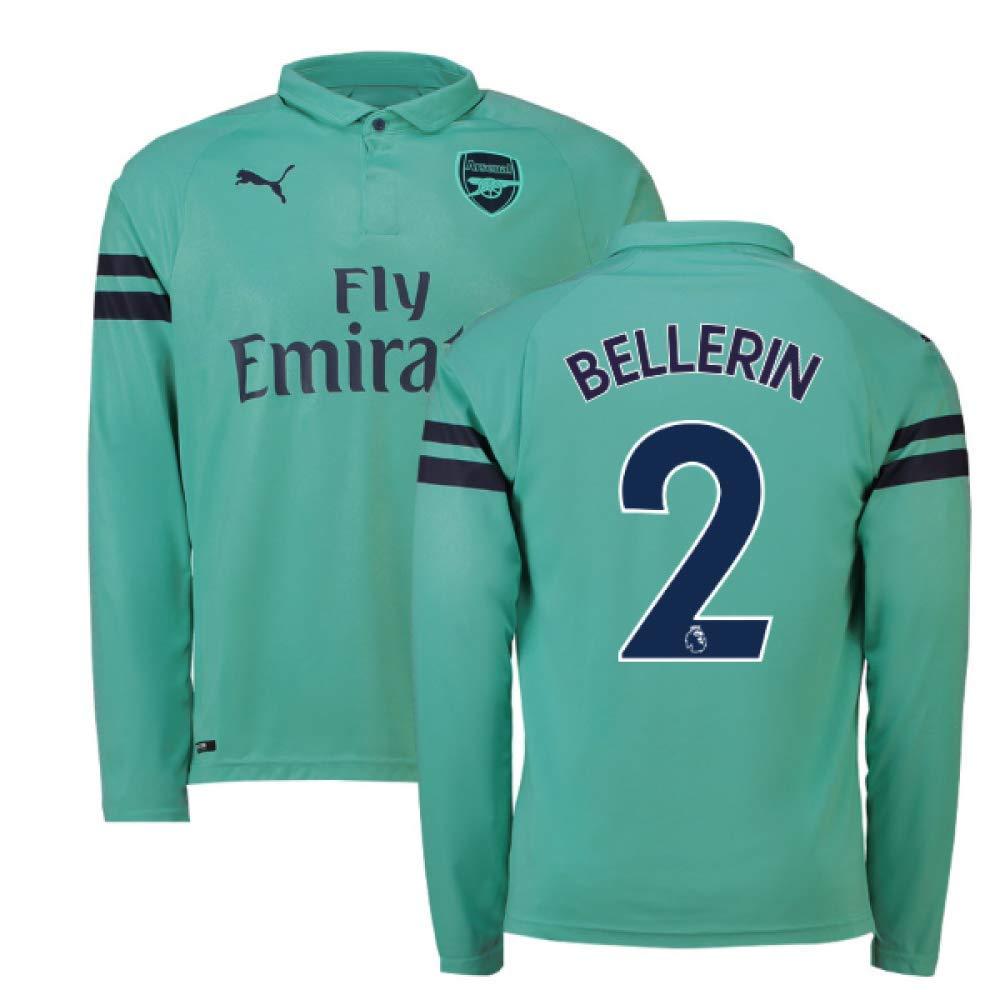 2018-2019 Arsenal Puma Third Long Sleeve Football Soccer T-Shirt Trikot (Hector Bellerin 2)