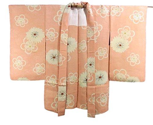 自己複雑締め切りアンティーク 羽織 梅と菊模様 正絹 裄59.5cm 身丈88cm