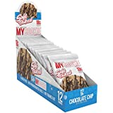 Pro Supps MYCOOKIE Delicious Soft Baked Protein Cookie, Chocolate Chip, 18g Protein, 7g Sugar, Gluten-Free, No Trans Fat, Healthy On-The-Go Snack, 12 ct