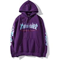 Thrasher Flame Magazine Hoodie Sweater Hoodie Casual Sweatshirt for Men and Women