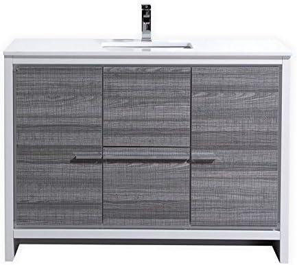 KubeBath Dolce 48 Single Sink Ash Gray Modern Bathroom Vanity