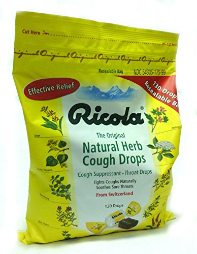 Asthma Cough Suppressant (Ricola the Original Natural Herb Cough Drops - Cough Suppressant - Throat Drops (Pack of 2 = 2x130 Ct = 260 Ct))