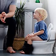 Nuby My Real Potty Training Toilet with Life-Like Flush Button & Sound for Toddlers & Kids, Wh